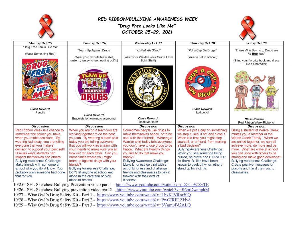 Red Ribbon week 2121, Bullying Awareness Flyer